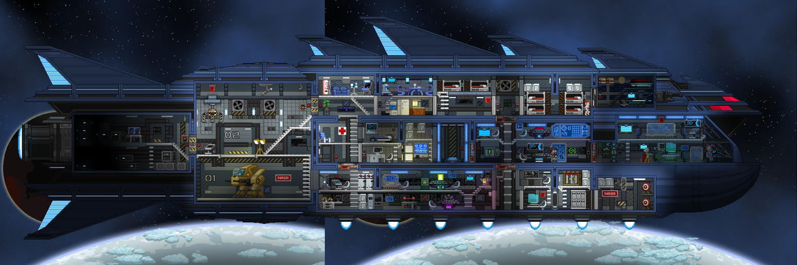 Starbound Ships Interior By ZixTalon On DeviantArt