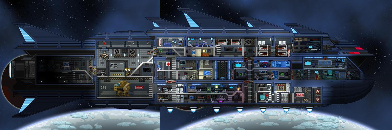 starbound   ship s interior by zixtalon on deviantart