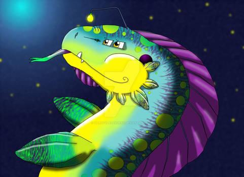 Fantasy Water Dragon Touchup