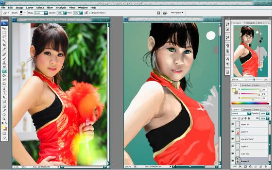 China Girl WIP 2