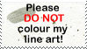 Please DO NOT colour stamp by kingjules71