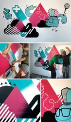Bobs room mural by patswerk