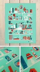 Shelf-portrait print