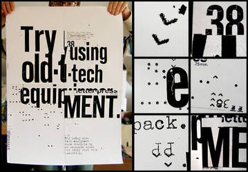 typography poster by patswerk