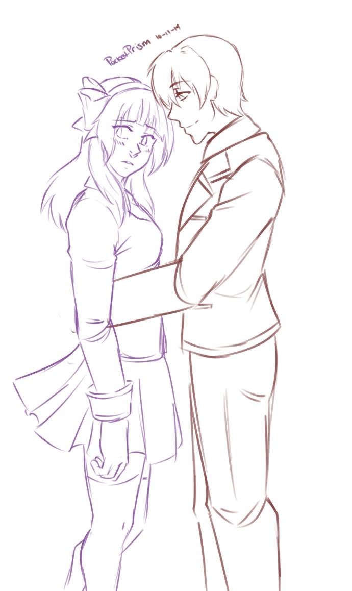 AT: Yuri and Otonashi by PocketPrism