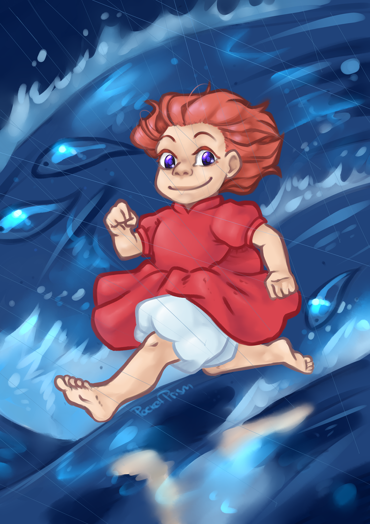 Screencap Redraw: Ponyo by PocketPrism