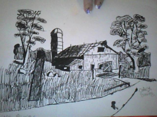 My Farm Drawing by Angelicsweetheart