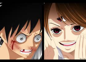One Piece 849 - Luffy and Pudding by MavisHdz