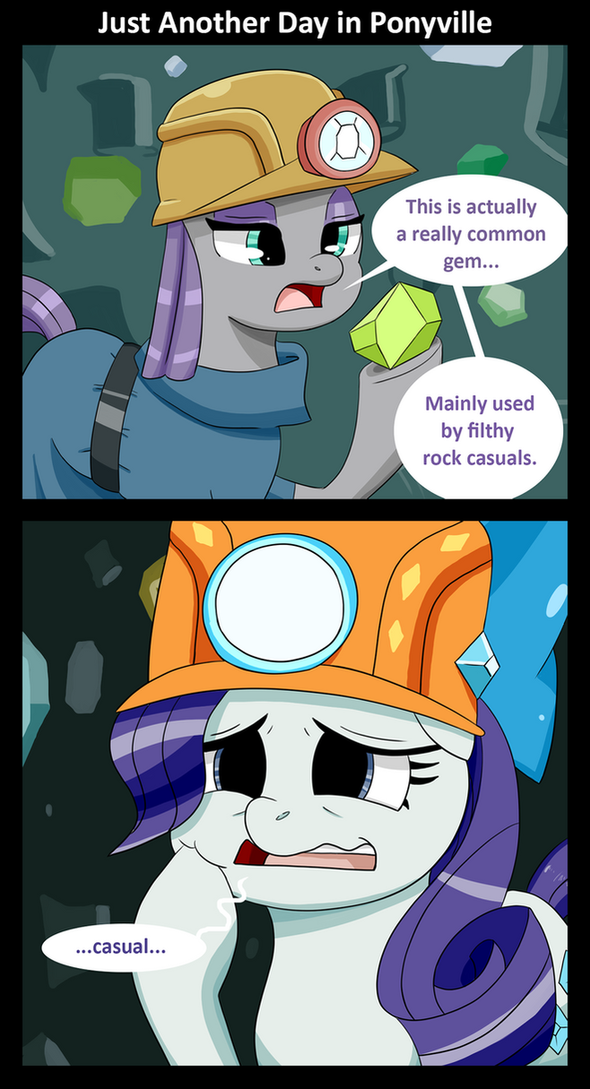 Just Another Day in Ponyville by Sonikku001