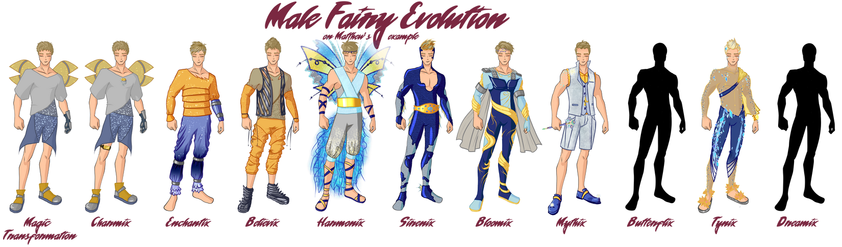 Male Fairy Evolution by TheDamnedFairy on DeviantArt