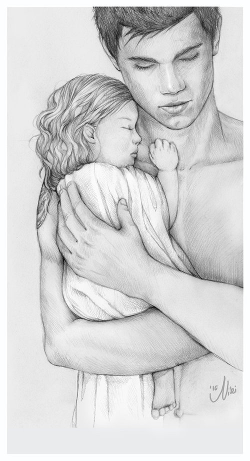 Jacob Black And Renesmee Cullen Sketch By Arianamontana On