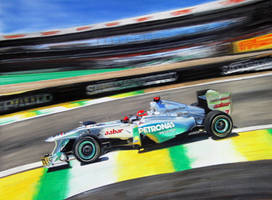 Michael Schumacher Mercedes F1 Brazil 2011 WIP by TonyRegan