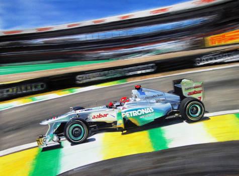Michael Schumacher Mercedes F1 Brazil 2011 WIP
