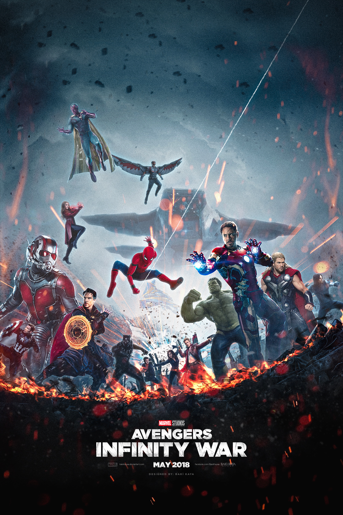 AVENGERS: INFINITY WAR Fan-Made Poster Unites The Heroes ...