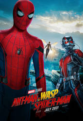 Ant-Man and the Wasp and Spider-Man (2021) Poster by bakikayaa