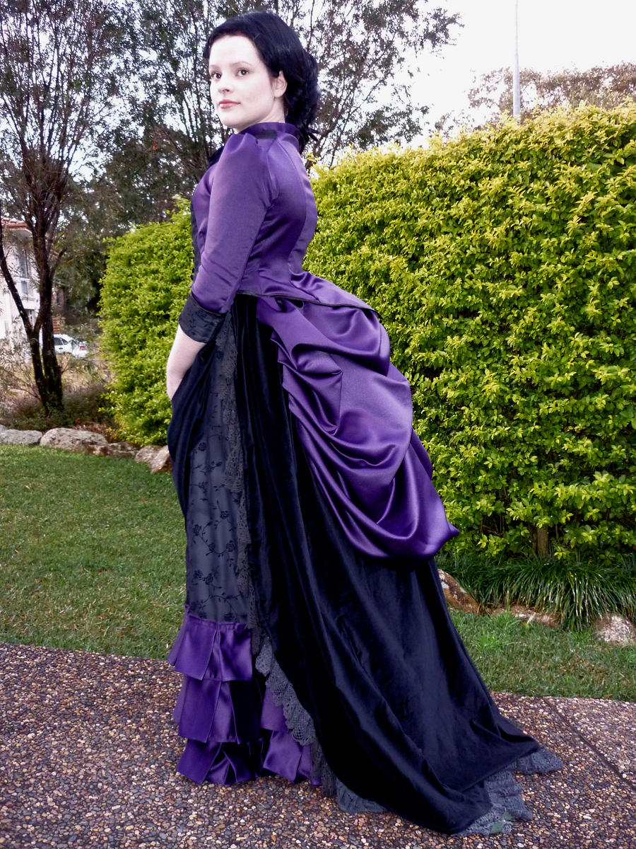 1885 Victorian Bustle Dress by Lady-Disenchanted