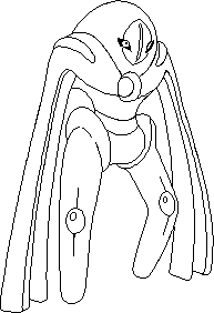 Deoxys defense form lineart by zahuranecs on deviantart for Deoxys coloring pages