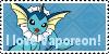 I love Vaporeon Stamp by Zahuranecs