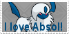 I Love Absol Stamp by zahuranecs