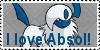 I Love Absol Stamp by Zahuranecs