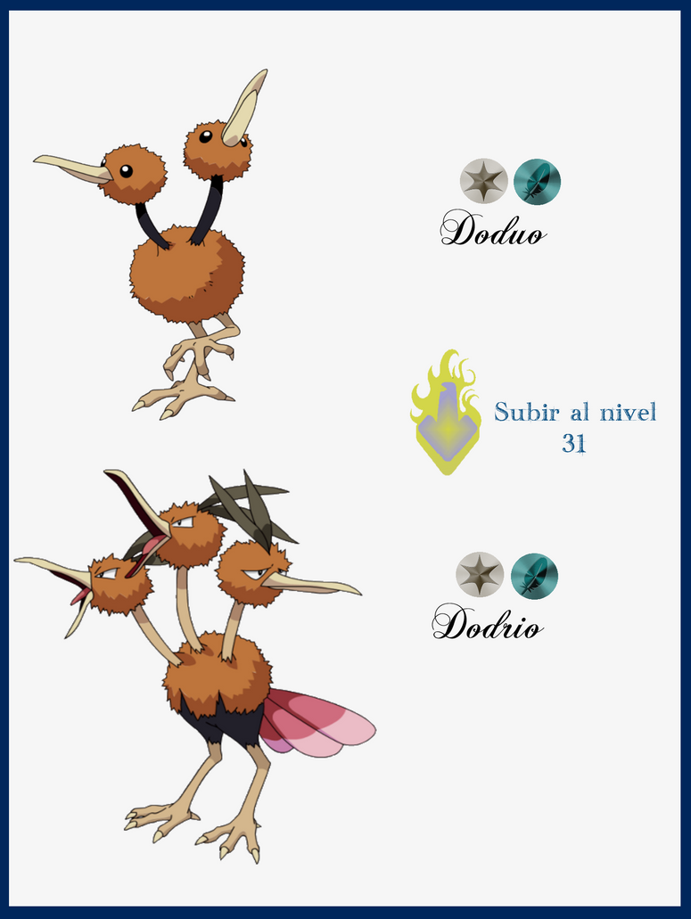 036 doduo evoluciones by maxconnery on deviantart