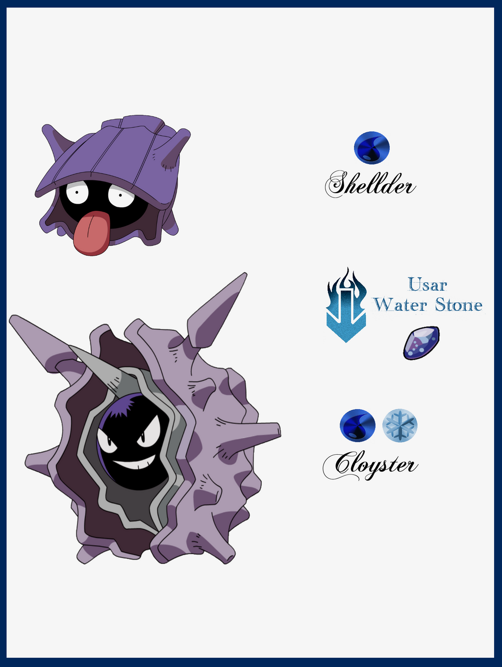 039 Shellder Evoluciones by Maxconnery on DeviantArt