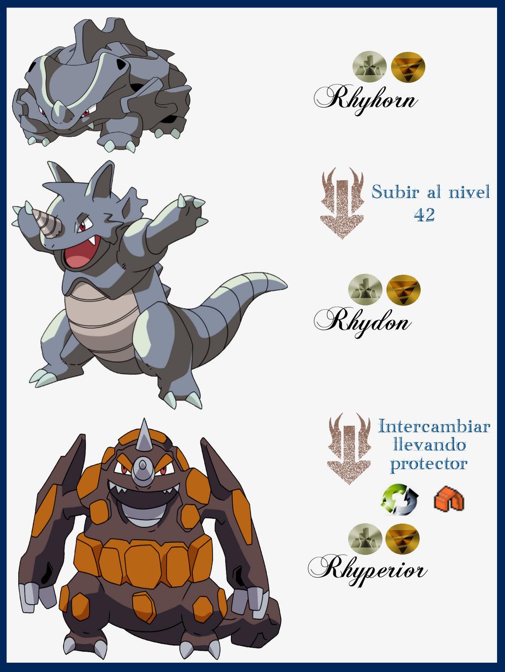 Evolution Rhyhorn Evolution Chart