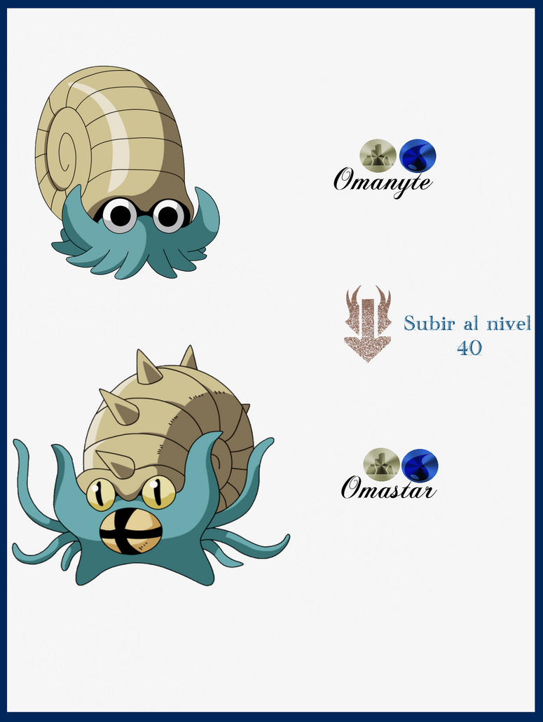 Omanyte Evolution Chart