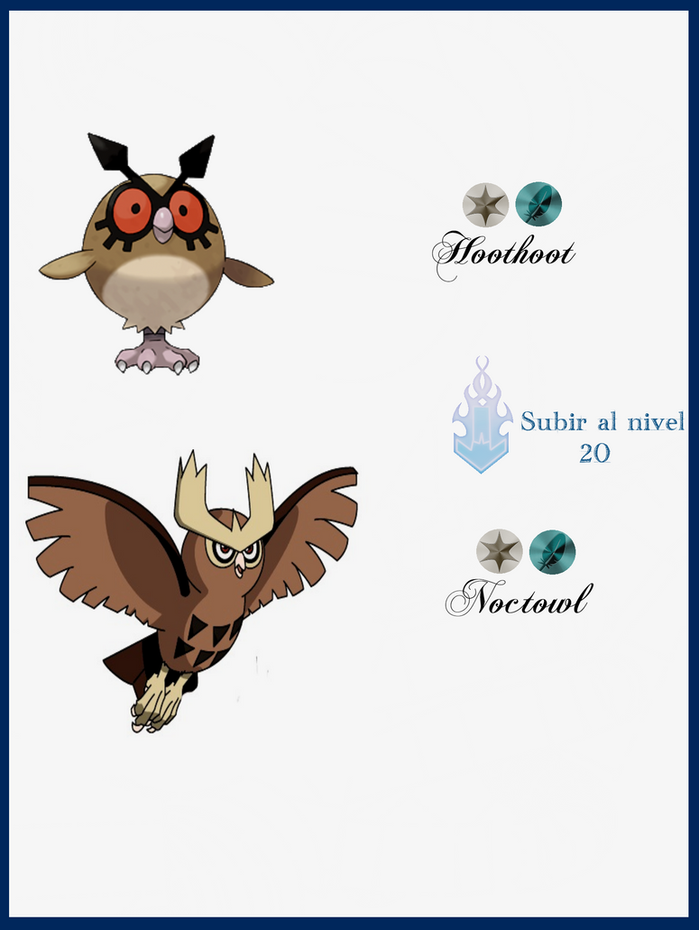 078 Hoothoot Evoluciones by Maxconnery on DeviantArt