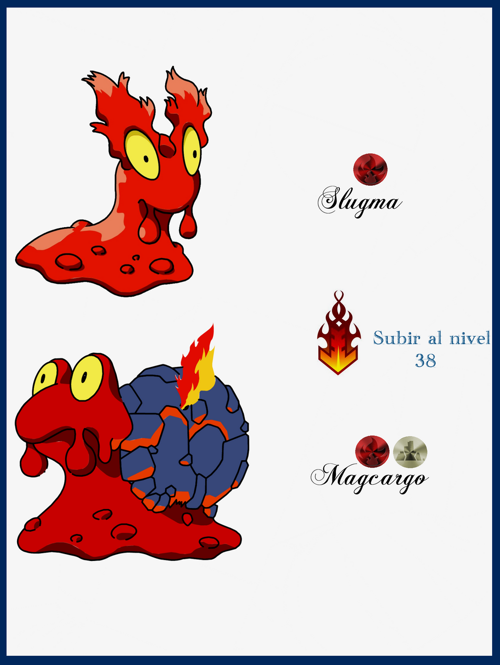 106 Slugma Evoluciones by Maxconnery on DeviantArt