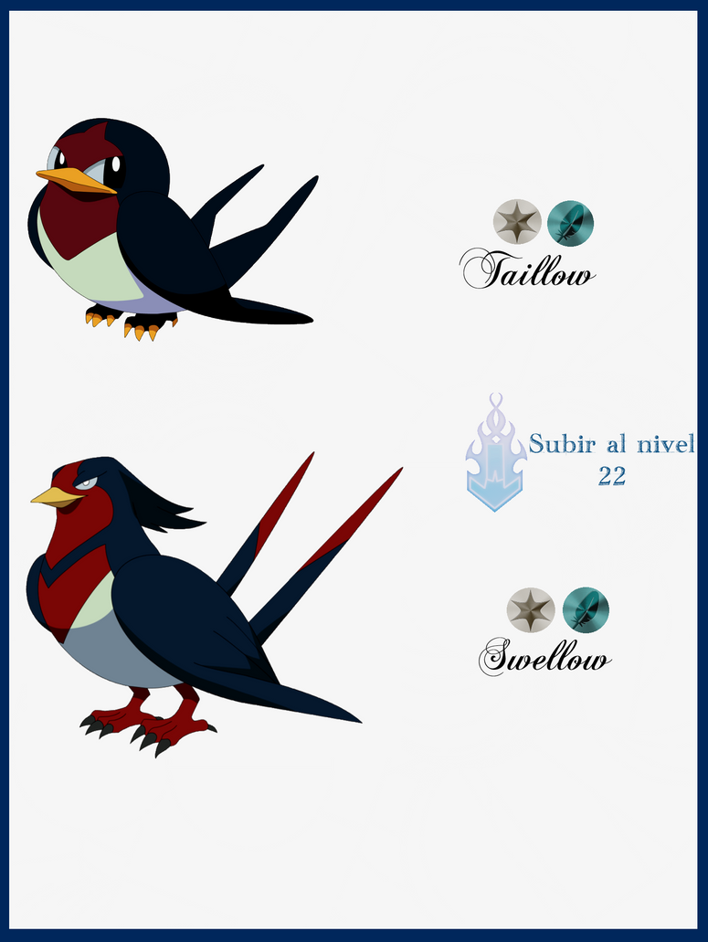 127 Taillow Evoluciones by Maxconnery on DeviantArt Pokemon Evolution ...   775 x 1030 png 171kB