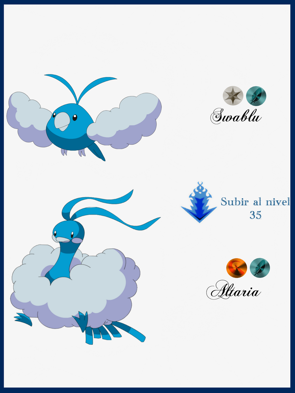 When does the Pokemon Swablu evolve - answers.com