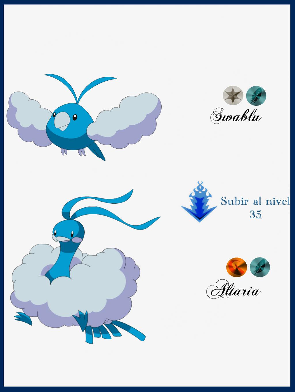 Pin Swablu Evolution Chart on Pinterest