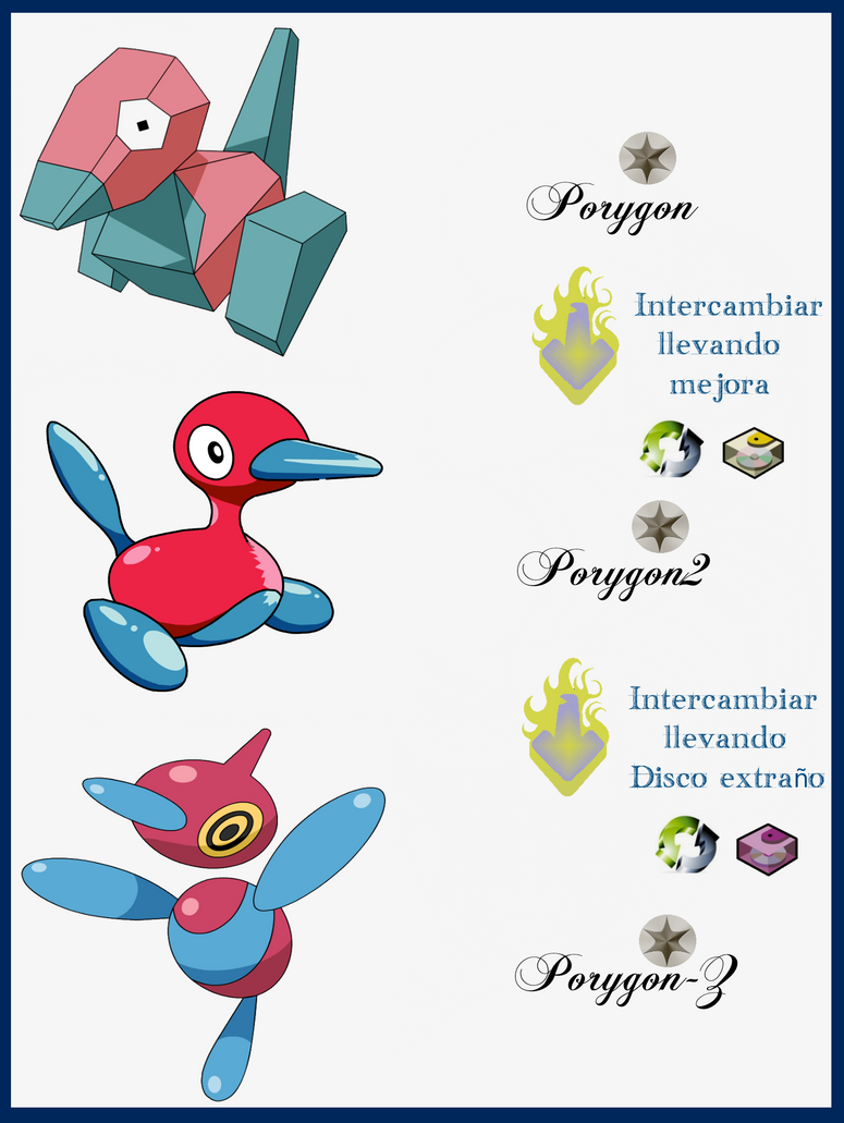 068 Porygon Evoluciones by Maxconnery on DeviantArt