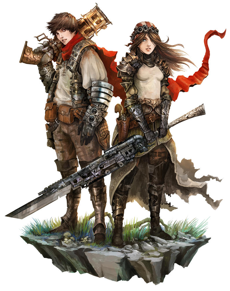 Human Couple - Shattered RPG by Eyardt