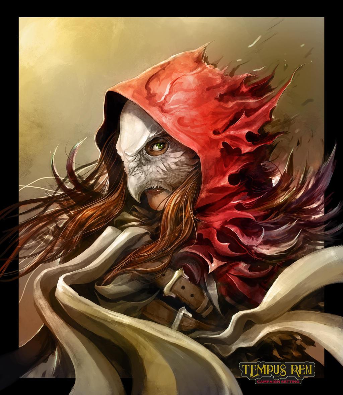Galeria de Arte: Ficção & Fantasia 1 - Página 2 Tempus_ren___riella_red_hooded_huntress_colour_by_eyardt-d7u27dt