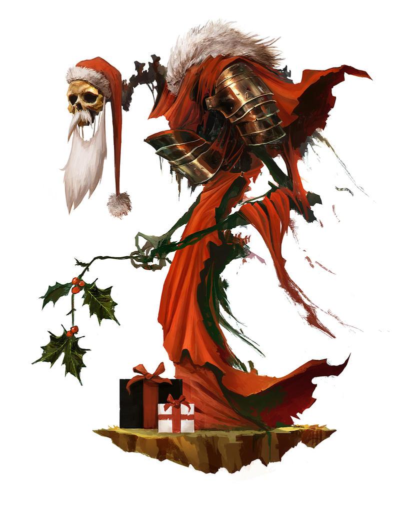 Merry Christmas, Skeleta Claus ! by Eyardt