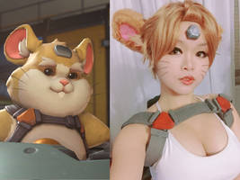 Hammond cosplay Wrecking Ball Overwatch by ANYA by DatAsianChick