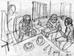 Sketch pour l'illustration d'une banniere