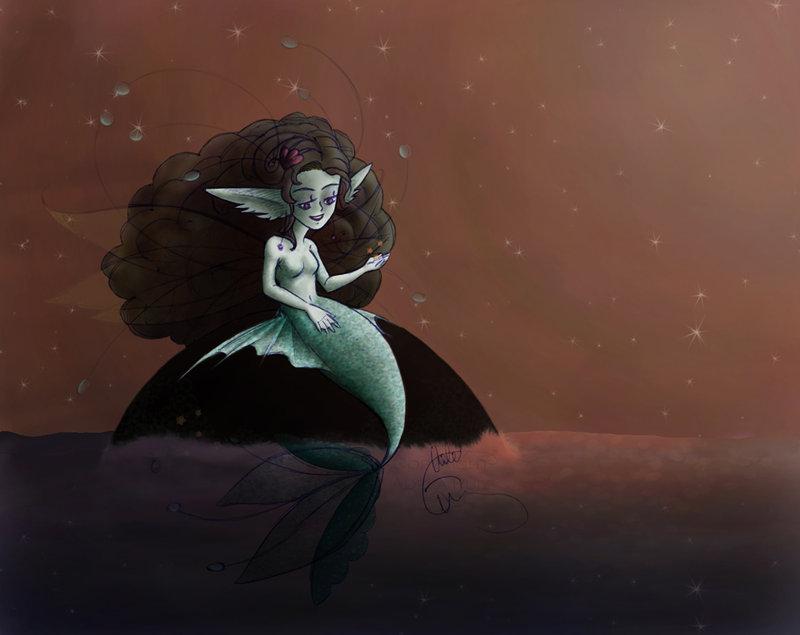 Mermaid Fae by adelaar1 by Realm-of-Fantasy