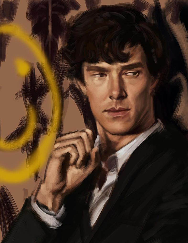 Monday Portrait Painting 9.1.2014 Sherlock (again) by thewordlesssignature