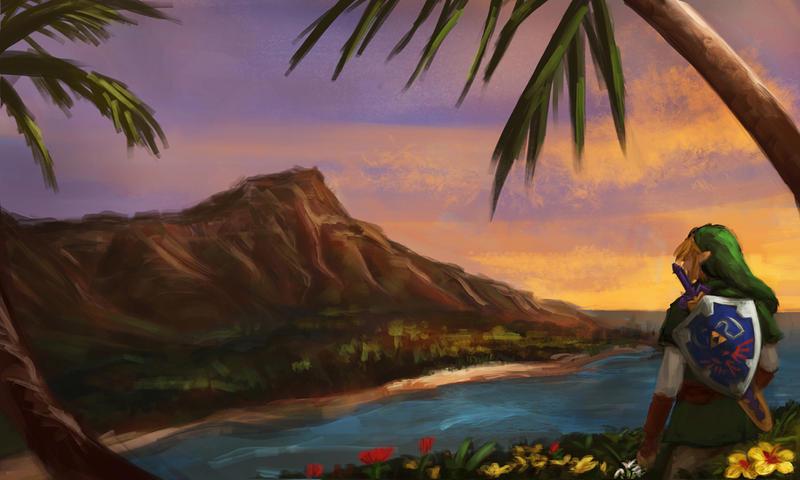 Promo Pic: Zelda in Hawaii! by thewordlesssignature