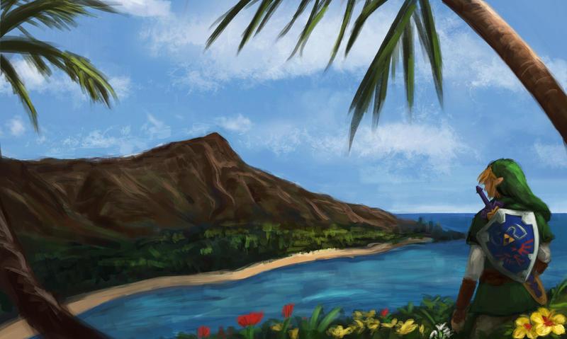 Alternate Color Scheme: Zelda in Hawaii Promo by thewordlesssignature