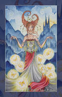 Captured Dreams -9 of Pentacles - 78 Tarot Project by MisticUnicorn