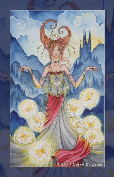 Captured Dreams -9 Of Pentacles