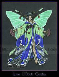 Luna Moth Geisha by MisticUnicorn