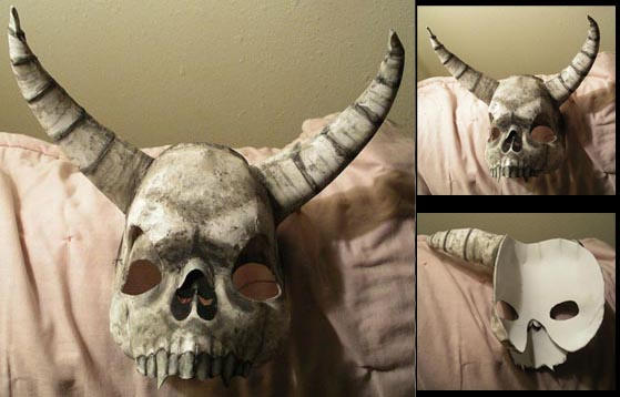 Death skull mask by MisticUnicorn