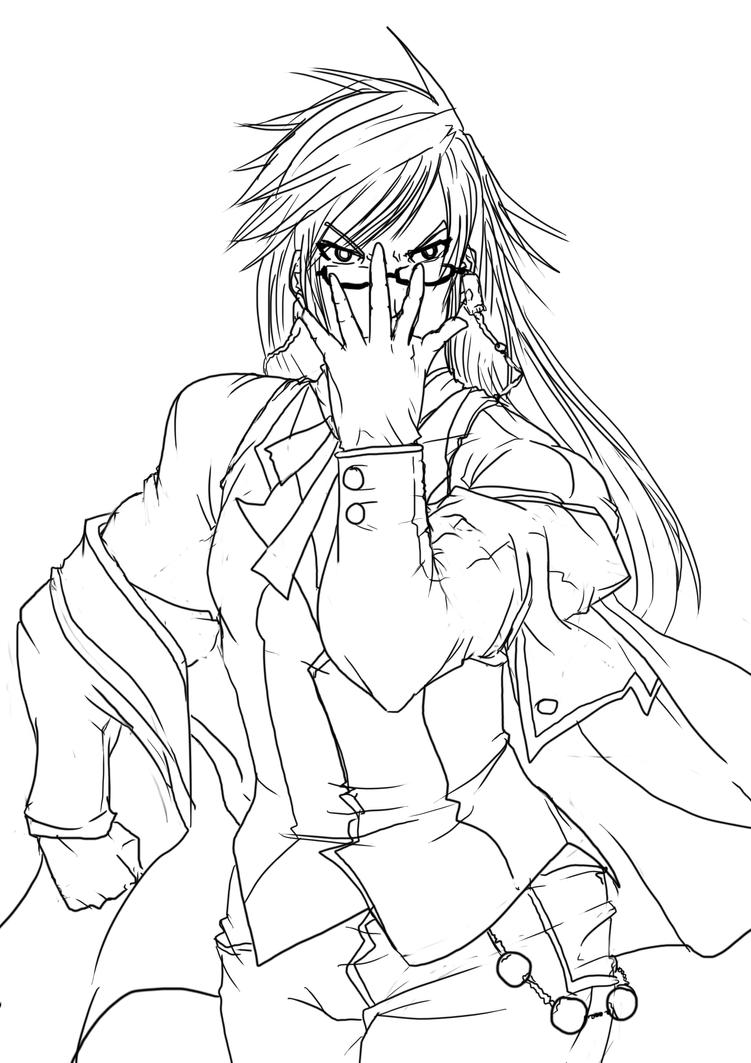 how to draw undertaker black butler
