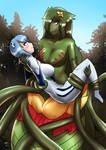 Rei meets Abelia(commission)