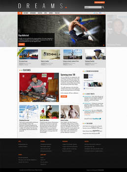 Layout for Online Magazine